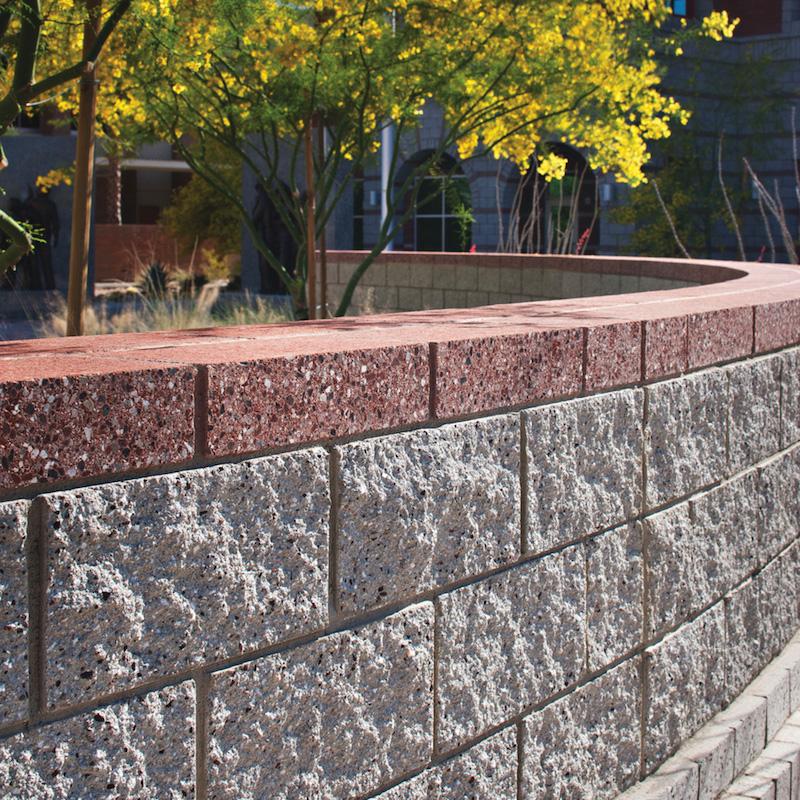 White Split Face Concrete Block