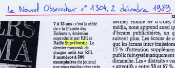 Le Nouvel Observateur - 2 décembre 1989