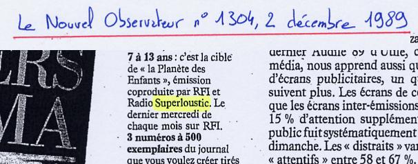 Nouvel Observateur - 2 décembre 1989