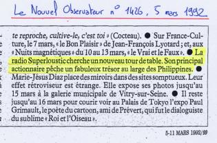 Le Nouvel Observateur - 5 mars 1992