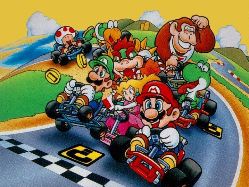 Super Mario Kart (SNES) Character & Kart artwork