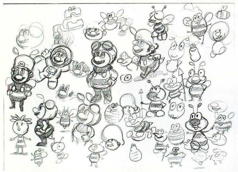 Super Mario Galaxy (Wii) Artwork including Mario, Lumas