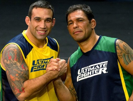 Minotauro (dir.) diz que Werdum (esq.) tem chances no solo contra Velasquez. Foto: UFC/Divulgação