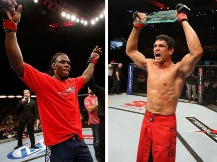 C. Mutante (dir.) e C. Hester (esq.) vão se encarar no UFC 163. Foto: Produção MMA Press (Divulgação/UFC)
