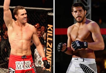 K. Noke (esq.) e P. Côté (dir.) vão comandar a próxima edição internacional do TUF. Foto: Produção MMA Press (UFC/Divulgação)