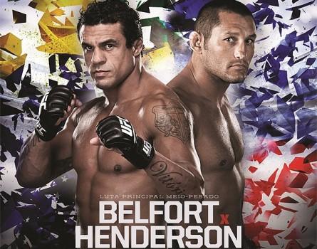 V.Belfort (esq.) e D.Henderson (dir.) fazem a luta principal do UFC Fight Night 32. Foto: UFC/Divulgação
