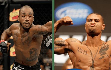Green (esq.) e Trujillo (dir.) se enfrentam no UFC 169. Foto: Produção MMA Press (Divulgação/UFC)
