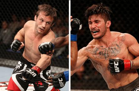Pickett (esquerda) fará sua estreia nos moscas contra McCall (direita). Foto: Produção MMA Press (UFC/Divulgação)