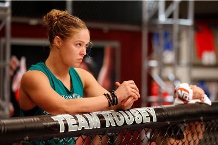 Rousey (foto) é a campeã da categoria galo feminina do UFC. Foto: Josh Hedges/Zuffa LLC