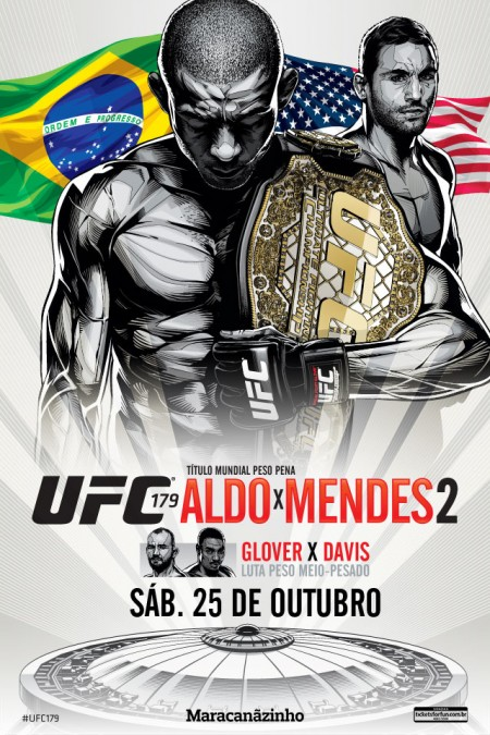 Pôster oficial do UFC 179 foi divulgado. Foto: Divulgação/UFC