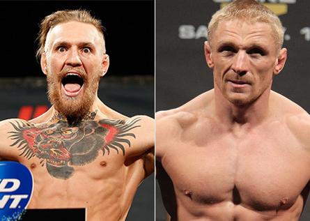 McGregor (esq.) e Siver (dir.) poderão se enfrentar em janeiro. Foto: Produção MMA Press (Divulgação/UFC)