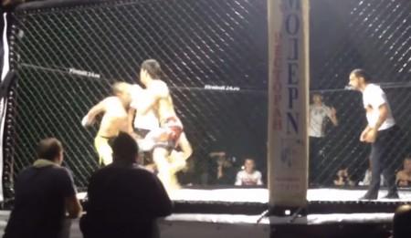 Russo despachou dois adversários no MMA de duplas. Foto: Reprodução