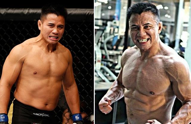 Forma física de Cung Le em foto (dir.) foi o início de toda a polêmica. Foto: Produção SUPER LUTAS (UFC/Reprodução)