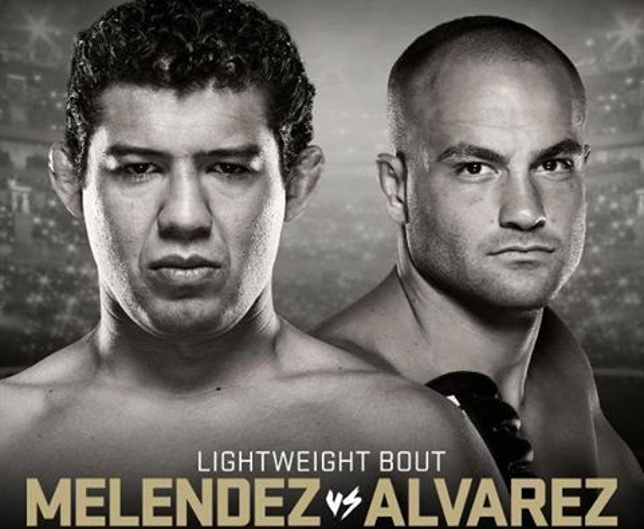Melendez (esq.) e Alvarez (dir.) já ostentaram cinturões dos leves fora do Ultimate. Foto: Divulgação