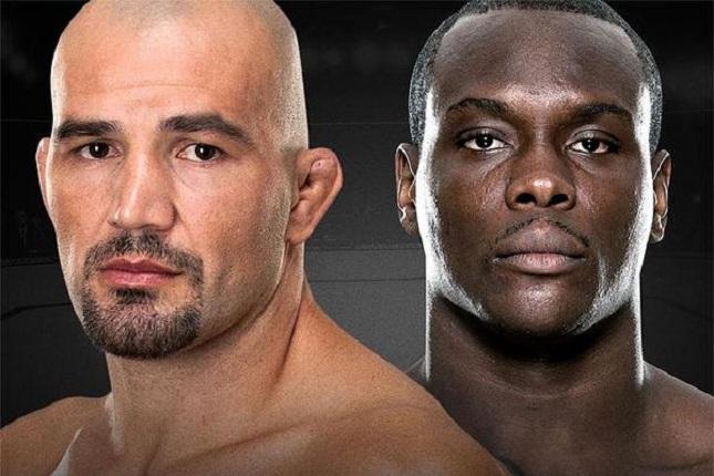 Glover (esq.) e OSP (dir.) fazem a luta principal do UFC em Nashville. Foto: Reprodução