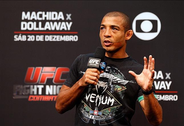 J. Aldo foi mais um importante lutador a detonar o acordo de material esportivo com a Reebok. Foto: Josh Hedges/UFC