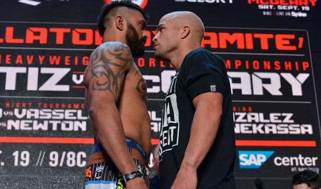 Ortiz e McGeary podem ficar seis meses afastado depois de luta no Bellator. Foto: Divulgação