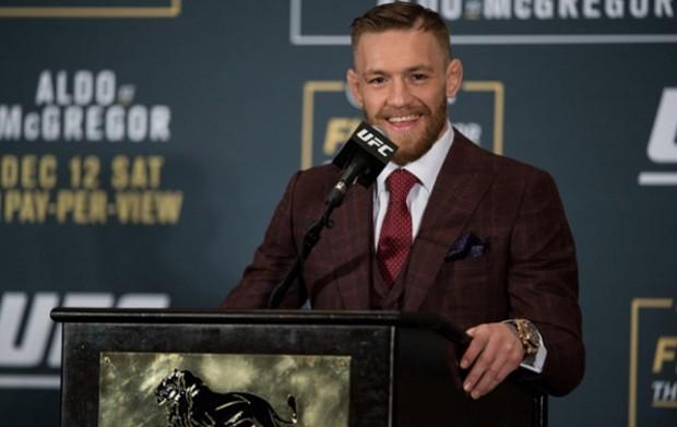 McGregor (foto) é campeão dos penas do UFC. Foto: Josh Hedges/UFC