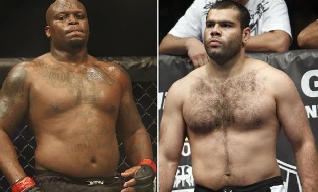 Lewis (esq.) e Gonzaga (dir.) duelam nos pesos pesados. Foto: Produção SUPER LUTAS (Divulgação)