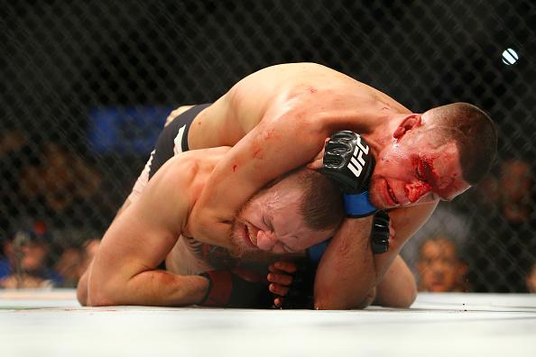 Diaz finalizou McGregor no segundo round no UFC 196. Foto: Divulgação