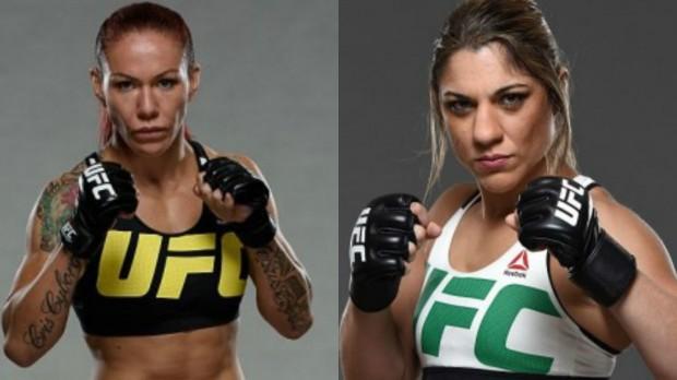 Bethe (dir) diz que gostaria de enfrentar Cyborg (esq). Foto: Produção SUPER LUTAS (Divulgação/UFC)