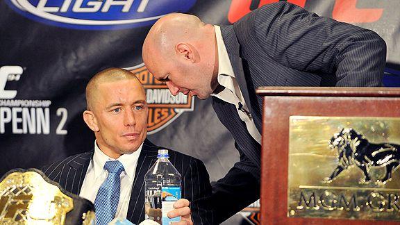 GSP (esq) e Dana (dir) estão negociando (Foto: Divulgação / ESPN)