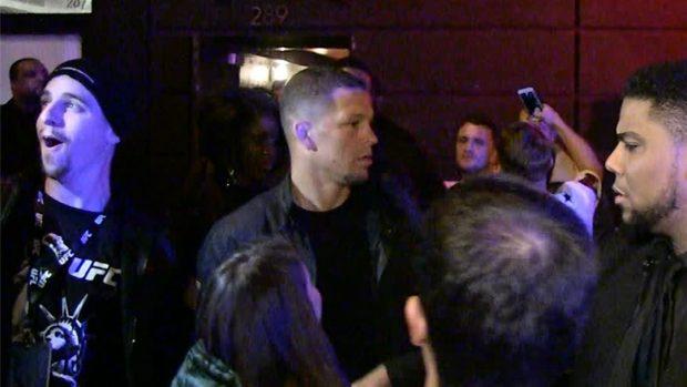 Diaz entrou na festa de McGregor após o UFC 205. Foto: Reprodução