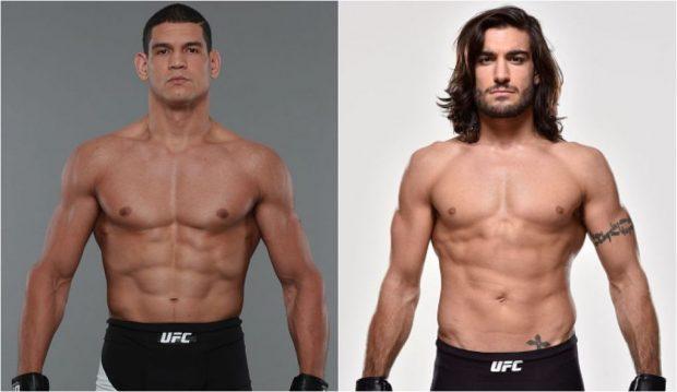 Mutante (esq) e Theodorou (dir) se enfrentam em fevereiro de 2017. (Foto: Produção SUPER LUTAS (Divulgação/UFC)