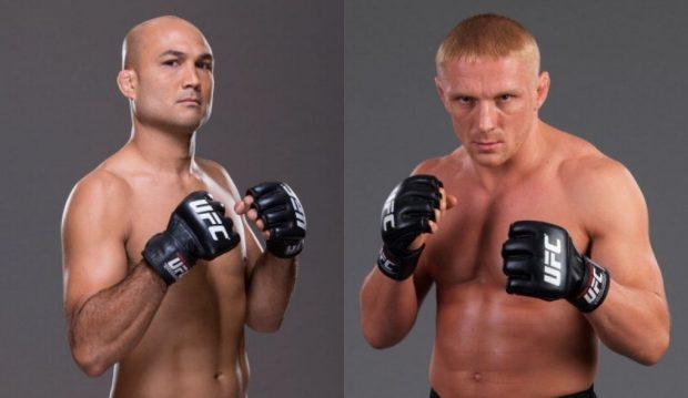 Penn (esq) volta contra Siver (dir) (Fotos: UFC/Montagem: Super Lutas)