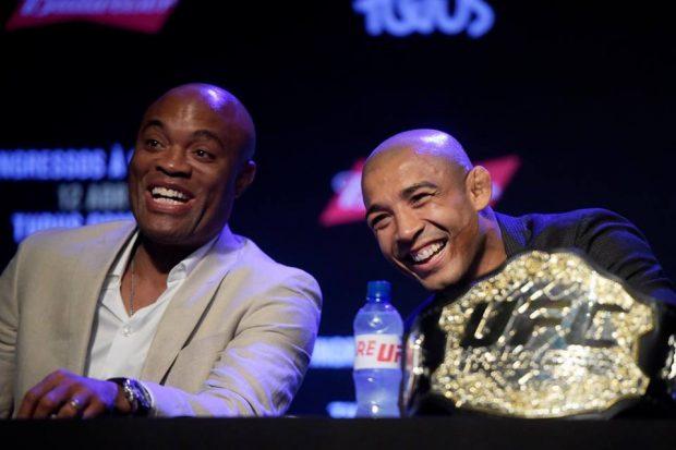 A. Silva (esq) e J. Aldo (dir) têm sonho de migrar para o boxe (FOTO: UFC)