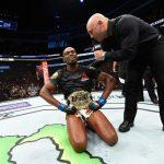 Jones falou bem do rival na entrevista pós-luta (Foto: Reprodução/Facebook UFC)