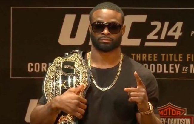 Woodley não luta desde julho deste ano (Foto Reprodução/Youtube UFC)