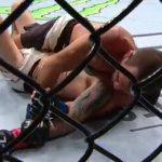 R. Yahya finaliza E. Briones no UFC México. Foto: Reprodução / Twitter / UFC