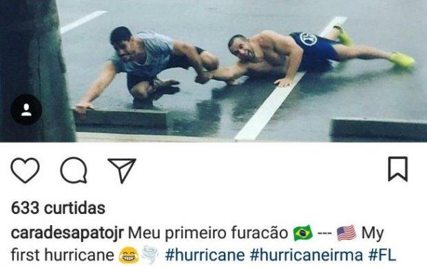 Cara de Sapato fez piada com furacão (Foto: Reprodução Instagram caradesapatojr)