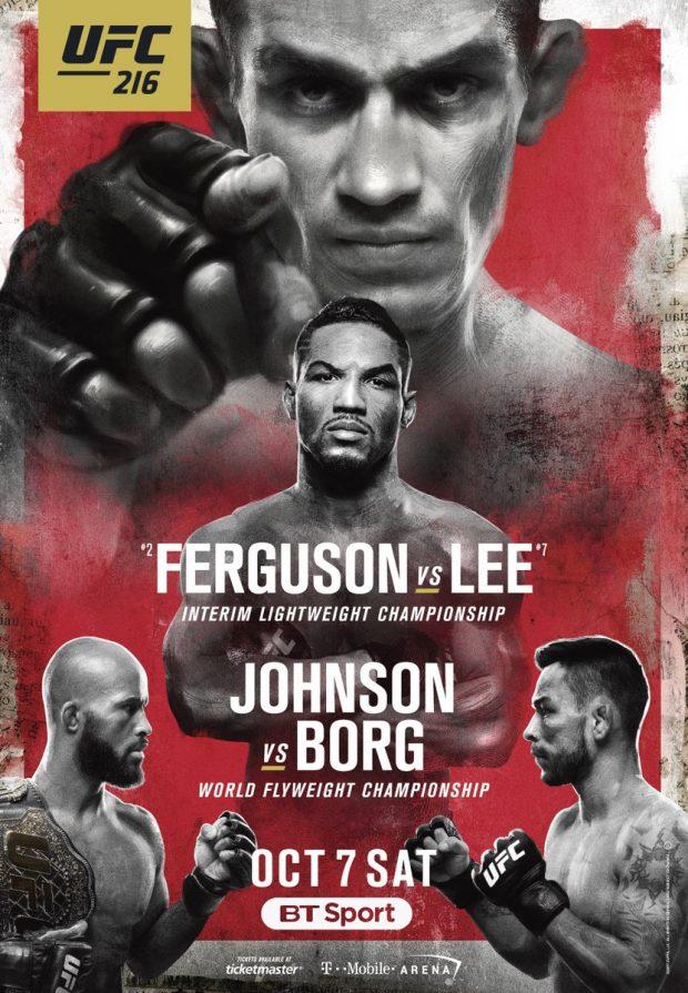 Pôster oficial do UFC 216 divulgado (Foto: Reprodução Twitter btsportufc)