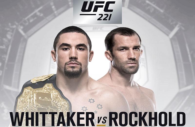Whittaker e Rockhold se enfrentam no UFC 221. Foto: Reprodução / UFC