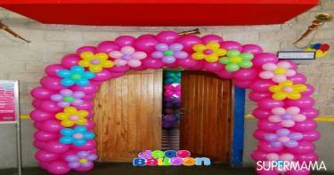 بالصور 8 أفكار بالبالونات لديكور الحفلات سوبر ماما