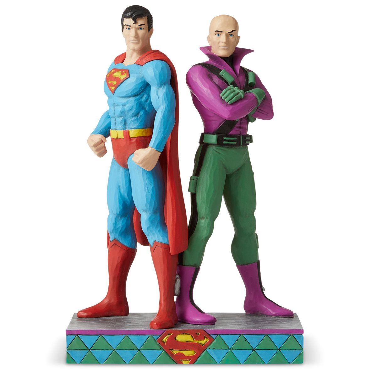 DC Comics Superman and Lex Luthor Statue by Jim Shore