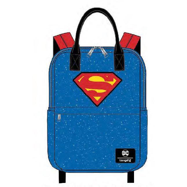 Superman Shield and Stars Nylon Backpack