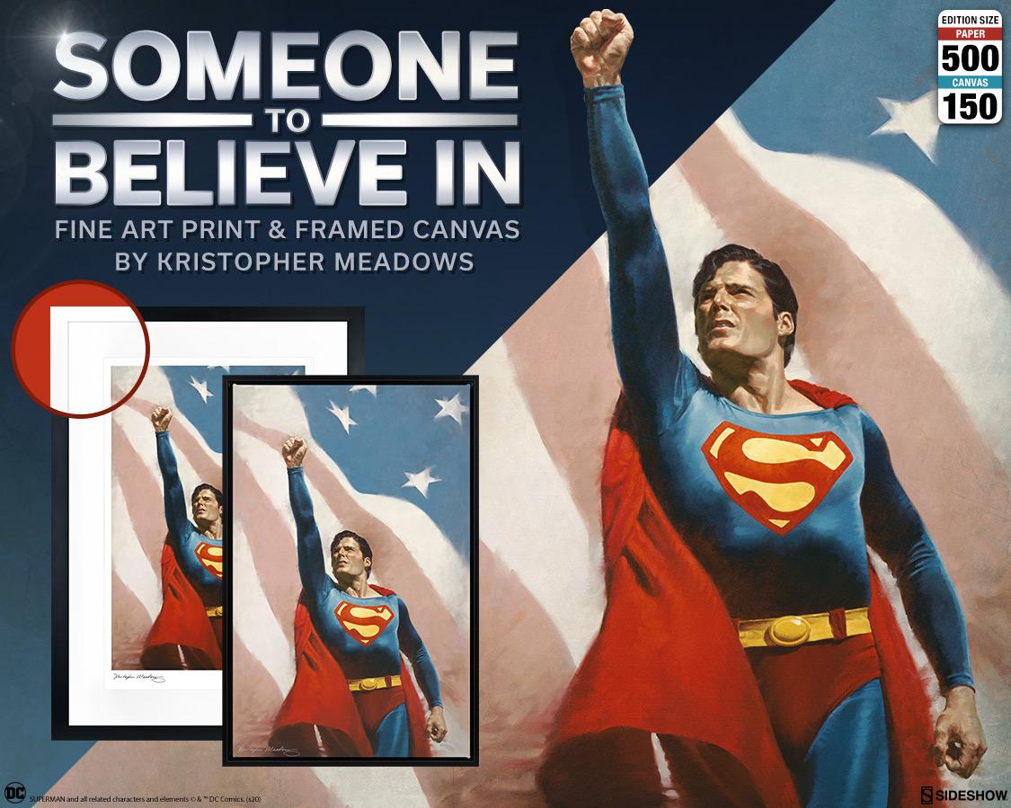 Superman Someone To Believe In Fine Art Print