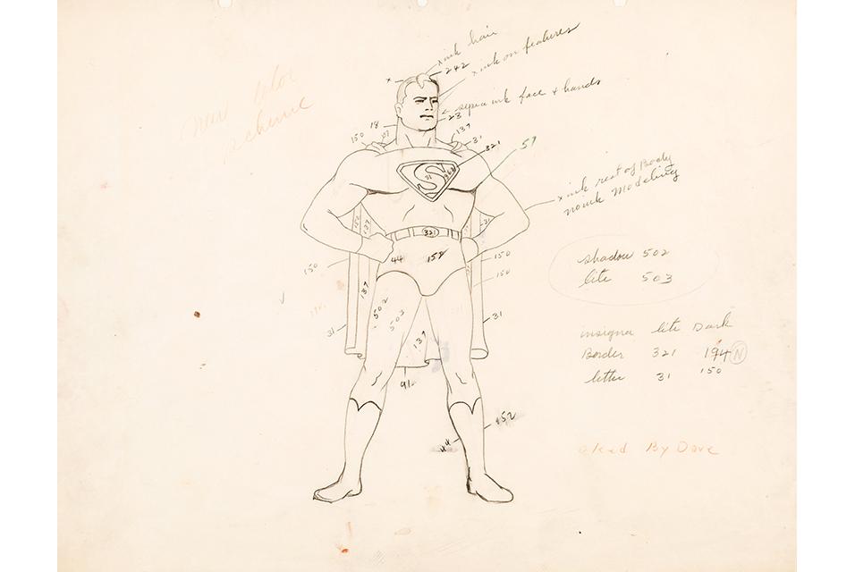 Fleischer Auction1 - El arte original de los dibujos de Superman de los Fleischer a subasta