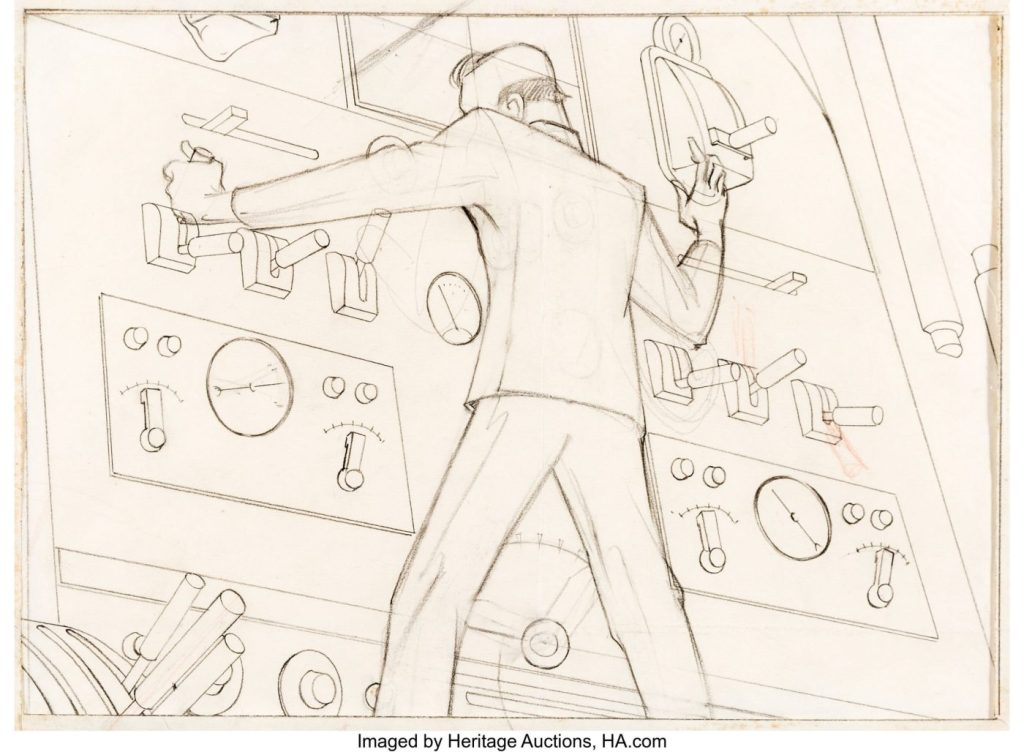 Fleischer Auction5 - El arte original de los dibujos de Superman de los Fleischer a subasta