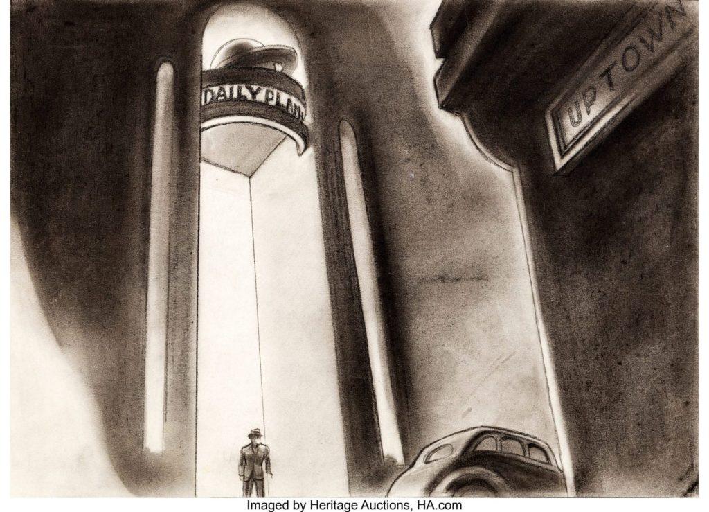 Fleischer Auction7 - El arte original de los dibujos de Superman de los Fleischer a subasta