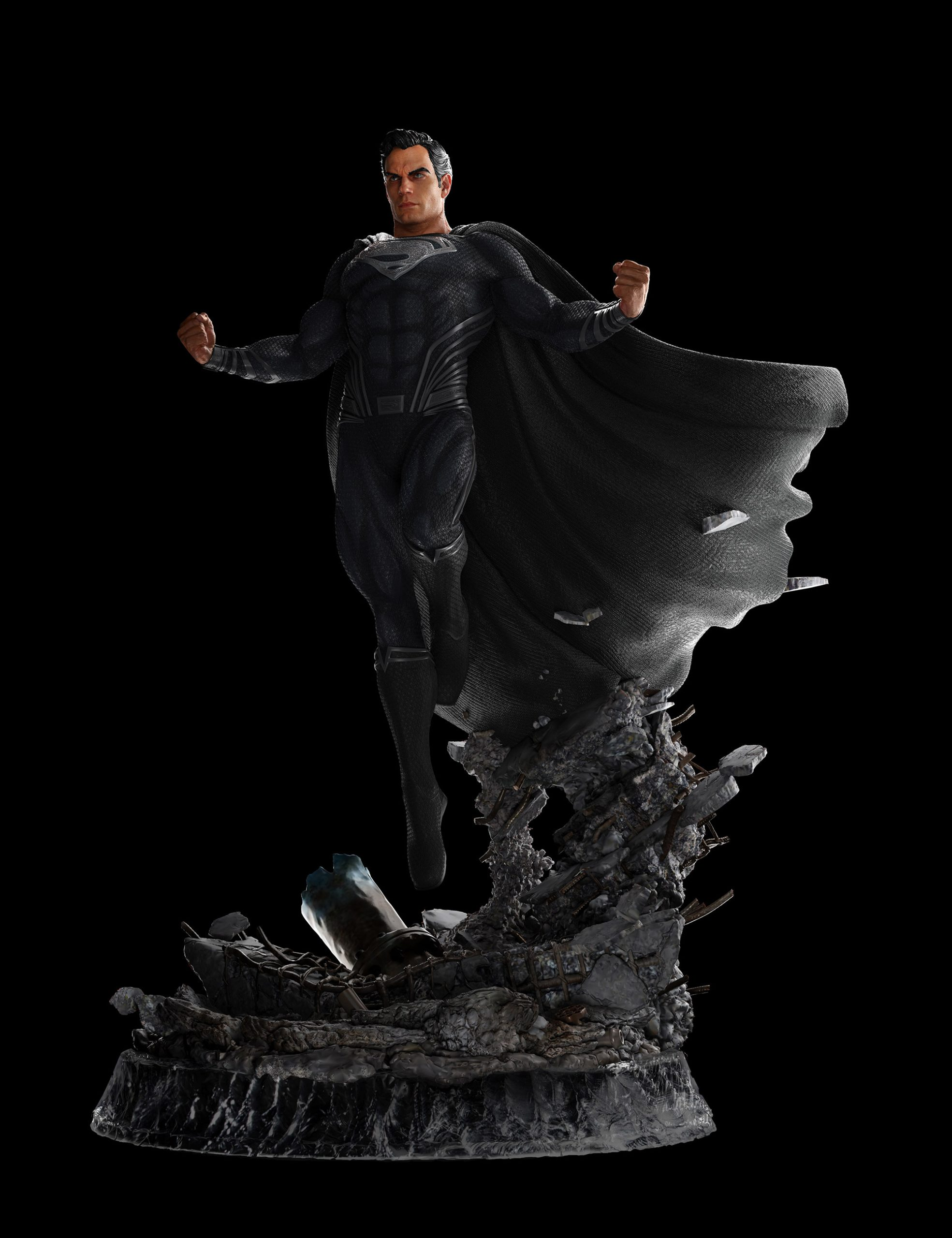 Return Of Superman Ep 116 : return, superman, Workshop, Unveils, Superman, Black, Statue, Homepage