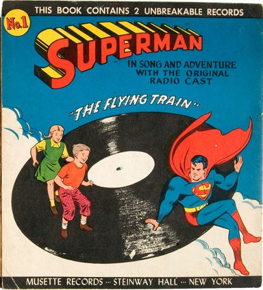 Image result for superman comic with record