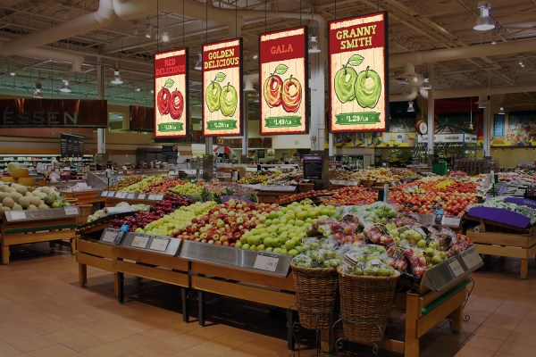 Supermarket Display Signs