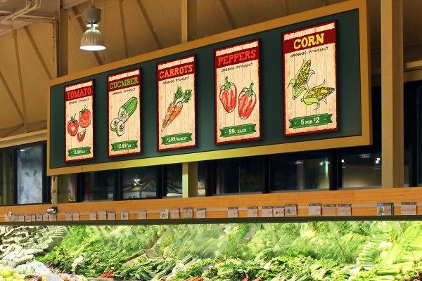 Ferro Display Supermarket Signage