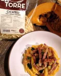 pasta zucca zucchine e pancetta