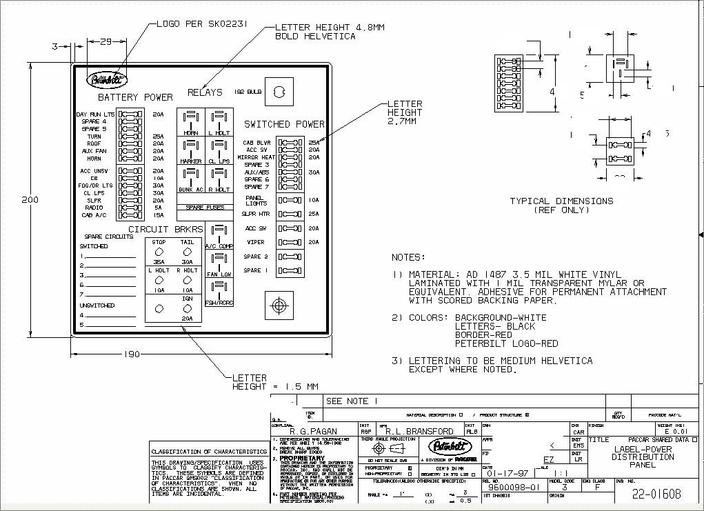 kenworth w900 radio wiring diagram volkswagen jetta stereo of a 1980 fuse box schematic online freightliner 1995