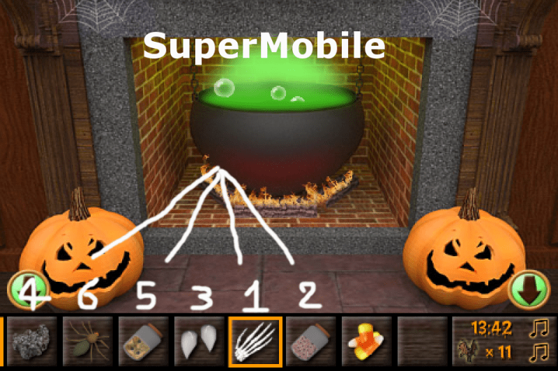 soluzione haunted halloween escape walkthrough super mobile